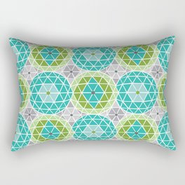 Geodome - Green Rectangular Pillow