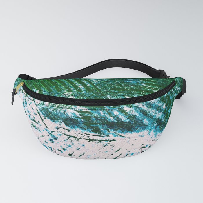 Hummingbird Abstract Painting Fanny Pack
