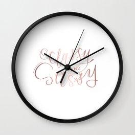 Classy & Sassy Wall Clock