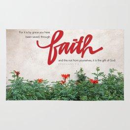 Through faith. Rug