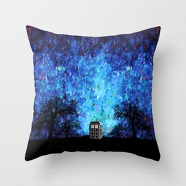 Lonely Tardis Doctor who Art painting iPhone 4 4s 5 5c 6, pillow case, mugs and tshirt Throw Pillow