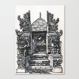 Bali : Market Temple Canvas Print