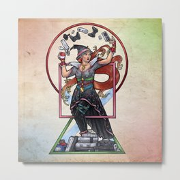 QT Witch by Bobbie Berendson W Metal Print