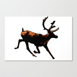 The Mighty Moose Mongoose Reindeer Elk Rentier Caribou Canvas Print