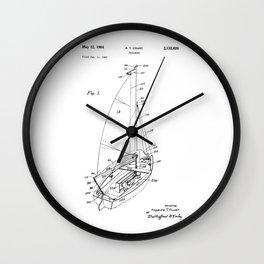patent art Court Sailboat 1964 Wall Clock