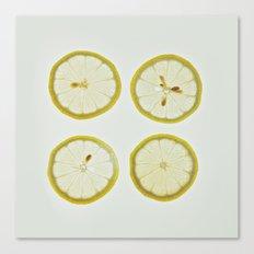 Lemon Square Canvas Print