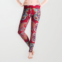 Boho Sun & Paisley Pattern Leggings