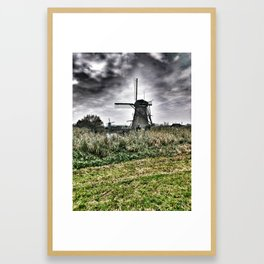 Kinderdijk Windmill - The Netherlands Framed Art Print