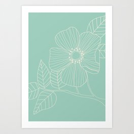 Floral Study in Blue Art Print