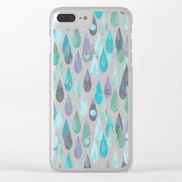 Let it Rain II Clear iPhone Case