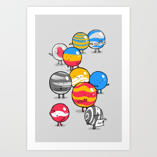 The Lost Marbles Art Print