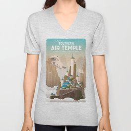 Southern Air Temple Travel Poster Unisex V-Neck