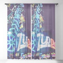 Zipper Carnival Ride Sheer Curtain