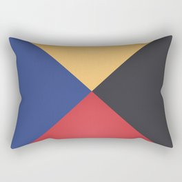 Primary Colors Triangles Rectangular Pillow