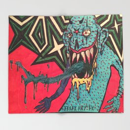 DEMON GOD 'FREAK ANY HO' Throw Blanket