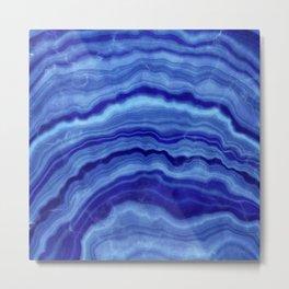 Blue Agate Texture 02 Metal Print