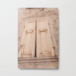 Travel in Italy / visit smal village / adventure / in wonderfull Toscane / shutters Metal Print