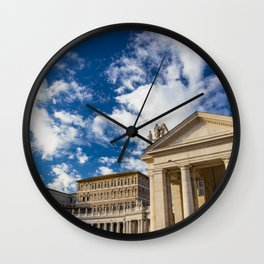 Piazza San Pietro, in the Vatican City; Rome Italy Wall Clock