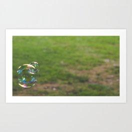 Garden Bubbles Art Print
