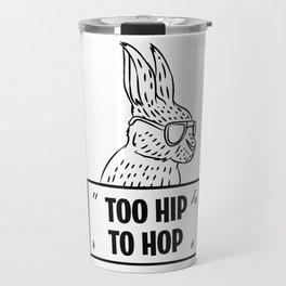 Easter Bunny Hop hobbling fun gift Travel Mug