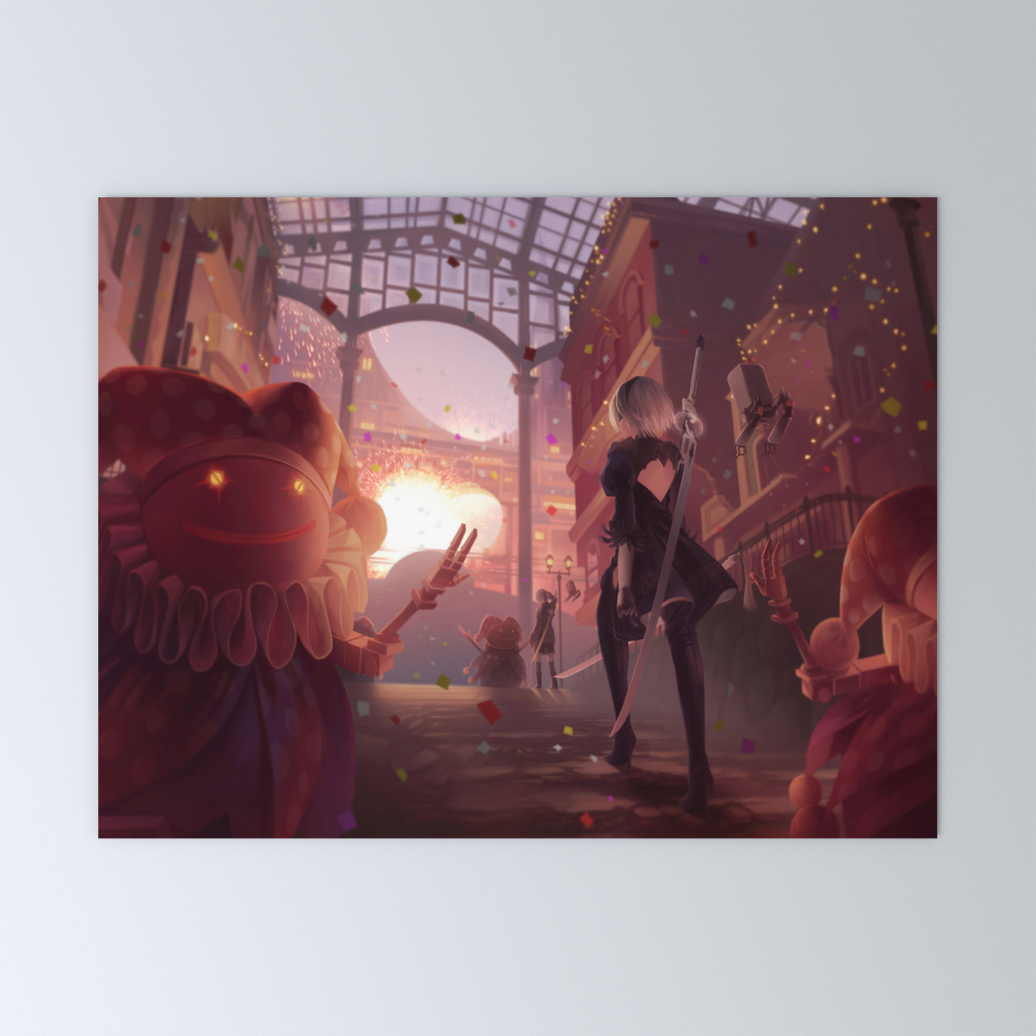 NieR Automata Tapestry Art Wall Hanging Cover Home Decor