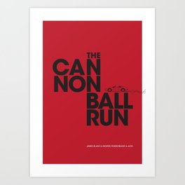 The Cannonball Run - Ferrari 308 GTS Art Print