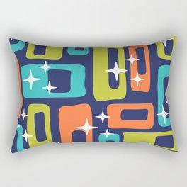 Retro Mid Century Modern Abstract Pattern 631 Rectangular Pillow