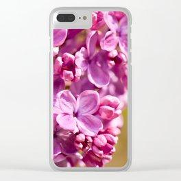 Pink Syringa vulgaris lilac Clear iPhone Case