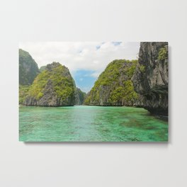 Paradise landscape El Nido Palawan Philippines Metal Print