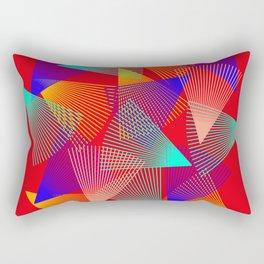 triangle ride Rectangular Pillow
