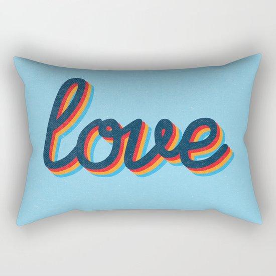 Love - blue version Rectangular Pillow