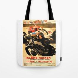 Nurburgring Race, vintage poster Tote Bag