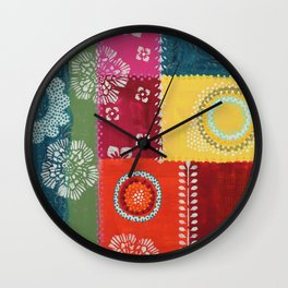 Paper Patchwork Wall Clock