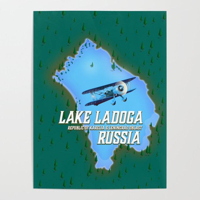 Lake Ladoga Russian map Poster by nicholasgreen | Society6