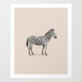 Geometric Zebra - Modern Animal Art Art Print