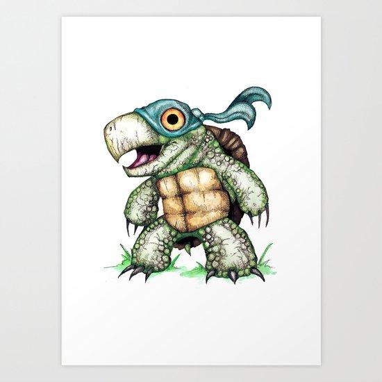 Teenage Mutant Snapping Turtle ; Leonidas Art Print