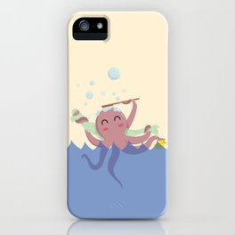 Octopus Shower iPhone Case