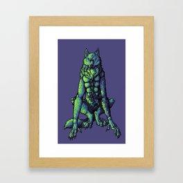 Blue Werewolf Framed Art Print