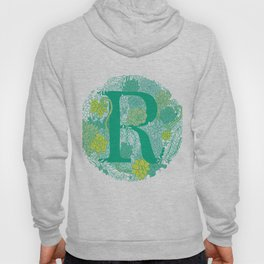 Succulent Greens Letter R Hoody