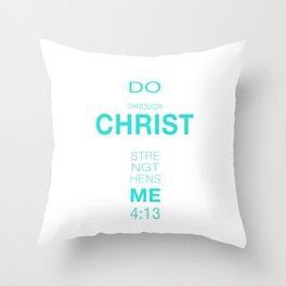 4:13 Philippians Throw Pillow