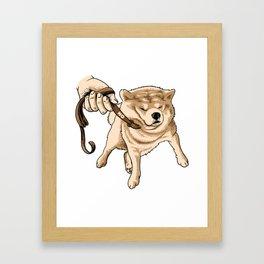 Japanese Shiba Inu Shirt  Framed Art Print