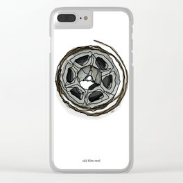 Old Film Reel Clear iPhone Case