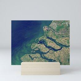 Rhine–Meuse–Scheldt delta Mini Art Print