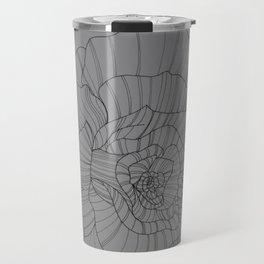 Line Drawing of Rose Travel Mug