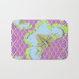 CHARTREUSE-WHITE EXOTIC BUTTERFLY Bath Mat
