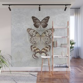 Three Butterflies Wall Mural