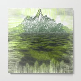 Far far Mountain Metal Print
