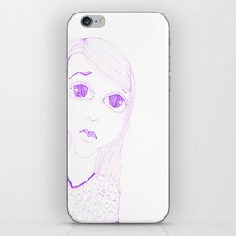 purple sadness1 iPhone Skin