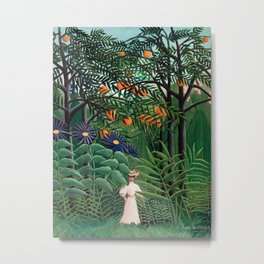Henri Rousseau - Woman Walking in an Exotic Forest Metal Print