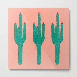 Cute Saguaros (Pattern Version) Metal Print